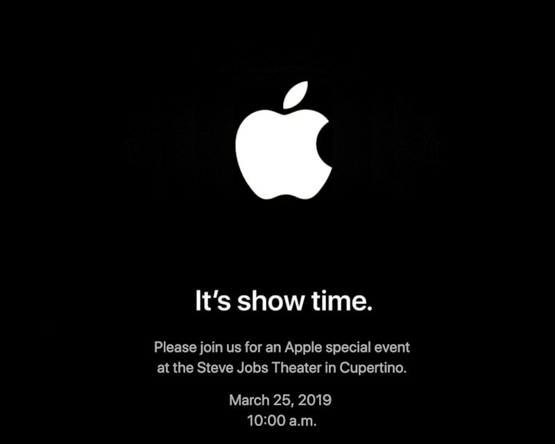 Apple Announces March 25 Event, 'It's Show Time'