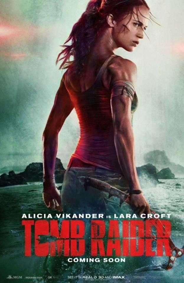 <p>Has Warner Bros even seen a human being before? Not content with giving Tye Sheridan a leg that's two feet longer than the other, the WB poster designers have given 'Tomb Raider' star Alicia Vikander a neck that looks like it's been spliced with giraffe DNA. It's not a good look for Lara Croft – her head would enter the tomb ten seconds before the rest of her. </p>