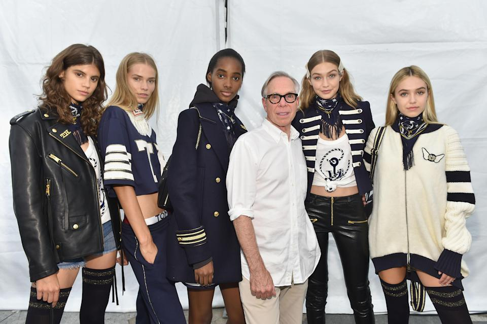 <p>Gigi and Tommy went for a sailor look for their first collab. In fact, 'nautical meets street' was the theme according to the two. Sending out military-style jacket mixed with sporty and rock and roll pieces, the resulting collection cleverly appealed to young girls across the globe.<br><i>[Photo: Getty]</i> </p>