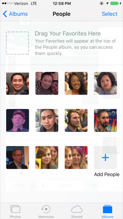 For some reason, Apple Photos has grouped photos with my face into three distinctly different groups.