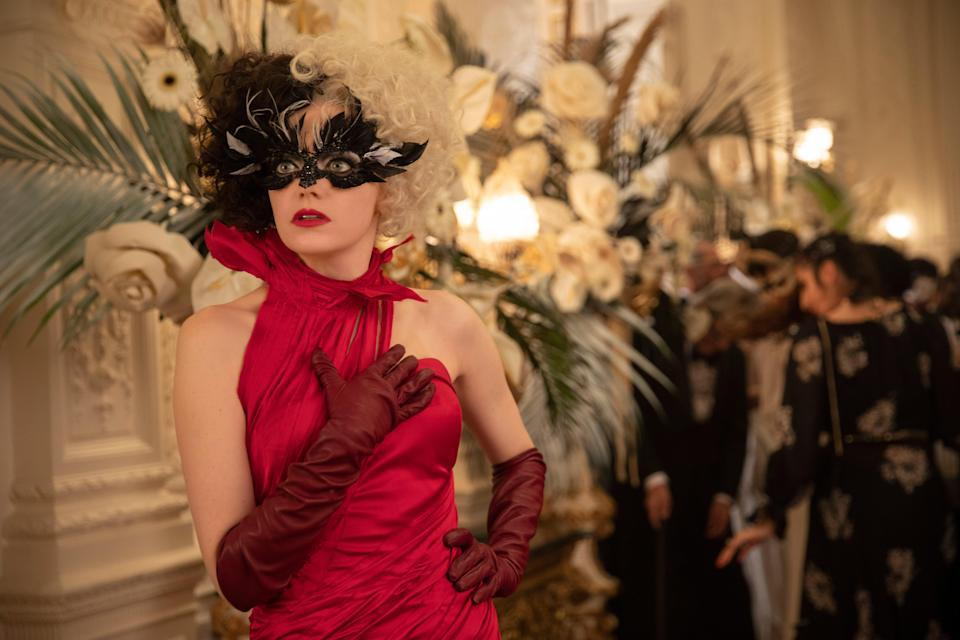 Emma Stone in Cruella, available on Premier Access and in cinemasLaurie Sparham