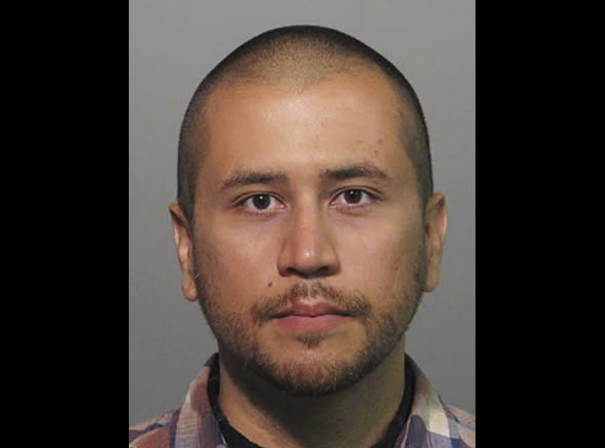 This Wednesday, April 11, 2012 booking photo provided by the Sanford Police Department shows George Zimmerman. Zimmerman, 28, the neighborhood watch volunteer who shot 17-year-old Trayvon Martin, was arrested and charged with second-degree murder Wednesday after weeks of mounting tensions and protests across the country. His attorney, Mark O'Mara, said his client would plead not guilty. (AP Photo/Sanford Police Department)