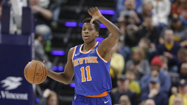 Will the Knicks hand the keys to the tank over to Frank Ntilikina? (AP)