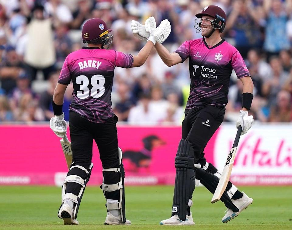 Somerset's Josh Davey (left) and Craig Overton helped their side through to the final (Mike Egerton/PA) (PA Wire)