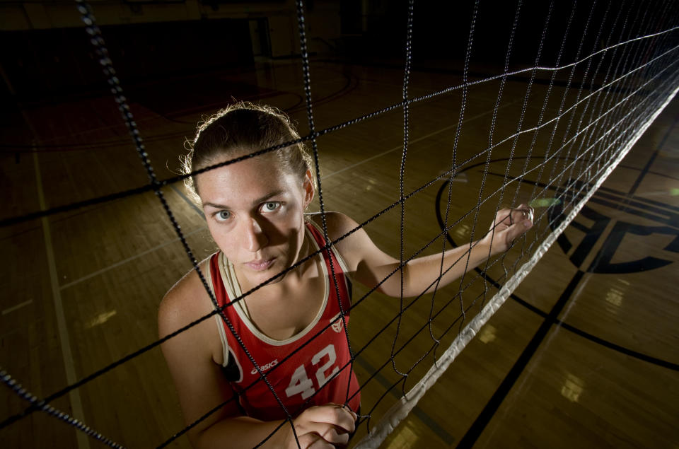 SANTA ANA, CA - MAY 07: Chloe Anderson is a transgender athlete who plays for the Santa Ana College women's volleyball team.   Photographed on May 7, 2015. (Photo by  Paul Rodriguez/MediaNews Group/Orange County Register via Getty Images)