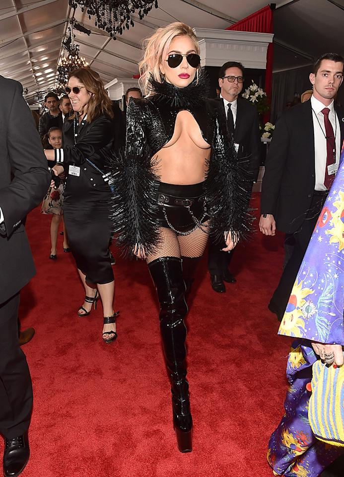 <p>Musician Lady Gaga attends the 59th Grammy Awards. (Photo: Alberto E. Rodriguez/Getty Images for NARAS) </p>