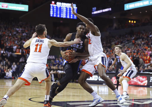 RJ Barrett leads No. 2 Duke past No. 3 Virginia