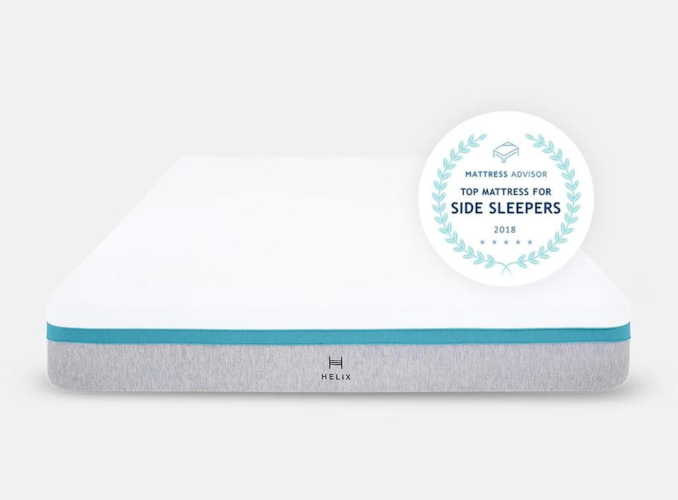 """<a href=""""https://helixsleep.com/"""" rel=""""nofollow noopener"""" target=""""_blank"""" data-ylk=""""slk:Helix Sleep"""" class=""""link rapid-noclick-resp""""><h3>Helix Sleep</h3></a><br><strong>Sale: </strong>$100 off mattresses; $150 off $1,250+; $200 off $1,750+ and two free Dream Pillows<br><br><strong>Dates: </strong>Now - October 12<br><br><strong>Promo Code:</strong> 4DAYFLASH100; 4DAYFLASH150; 4DAYFLASH200<br><br><strong>Helix</strong> Sunset Mattress, $, available at <a href=""""https://helixsleep.com/products/sunset"""" rel=""""nofollow noopener"""" target=""""_blank"""" data-ylk=""""slk:Helix"""" class=""""link rapid-noclick-resp"""">Helix</a>"""