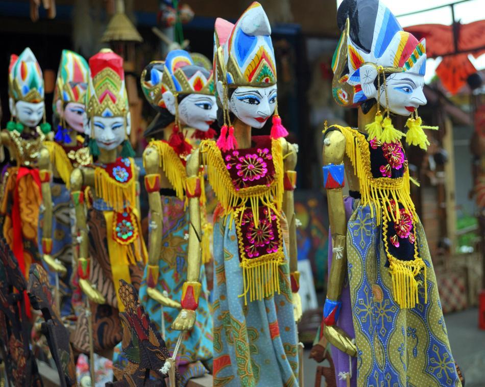<b>Puppets in Bali, Indonesia</b><br><br>The sounds of performances fill the air as you walk into any of these temples. Wayang or shadow puppetry, the Kecak or fire-dance, and various other local dances like Barong, Legong and Pendet are some of the art forms to experience while you visit these shrines.