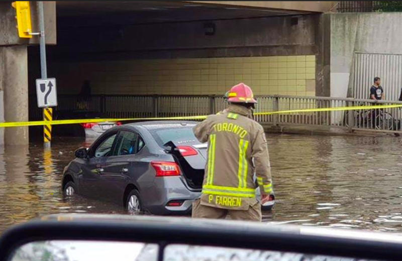 PHOTOS: Flooding, trees down after intense storms slam GTA