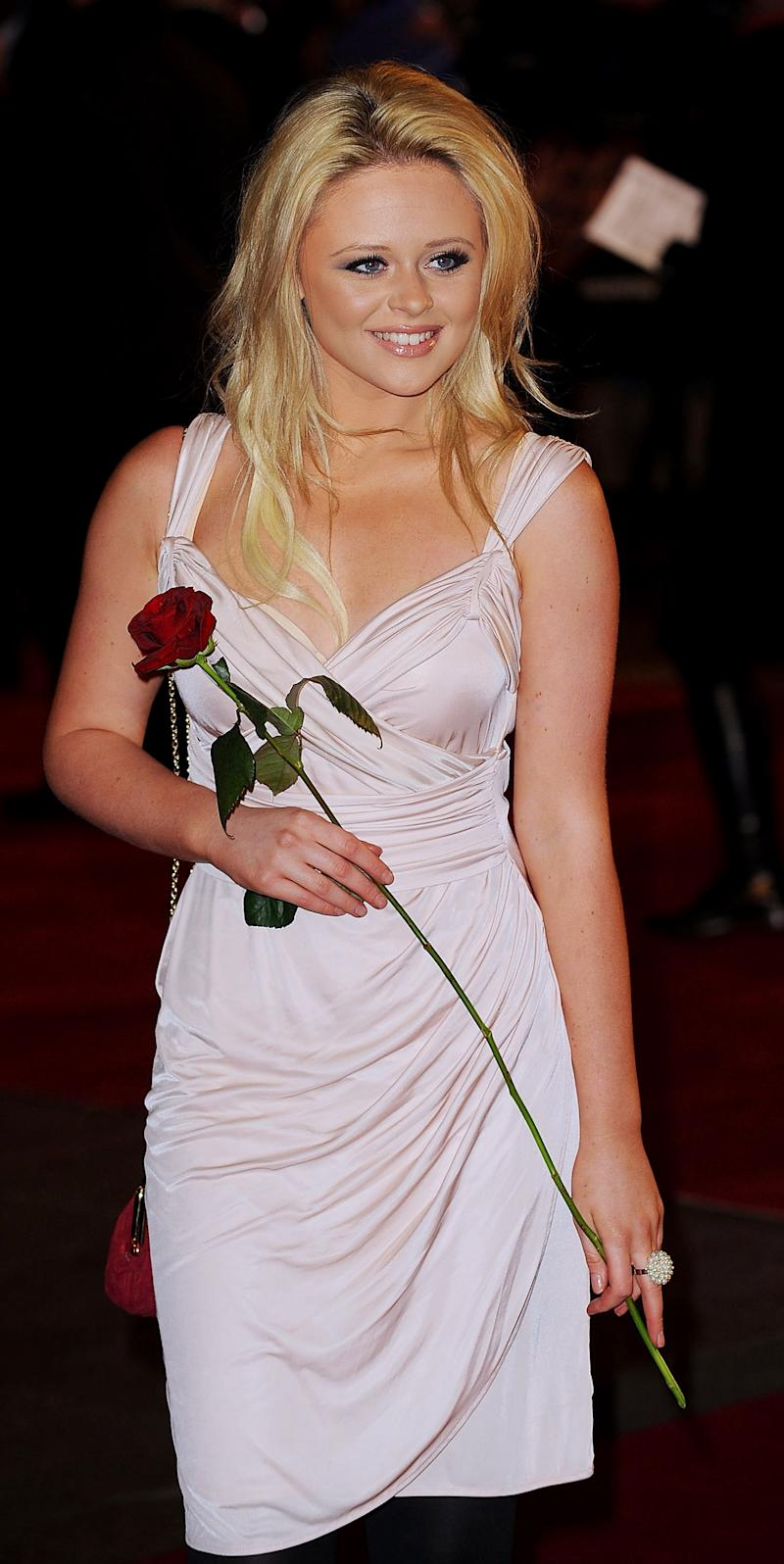 Emily Atack attends the UK Premiere of 'Valentine's Day' at Odeon Leicester Square on February 11, 2010 in London, England. (Photo by Ferdaus Shamim/WireImage)
