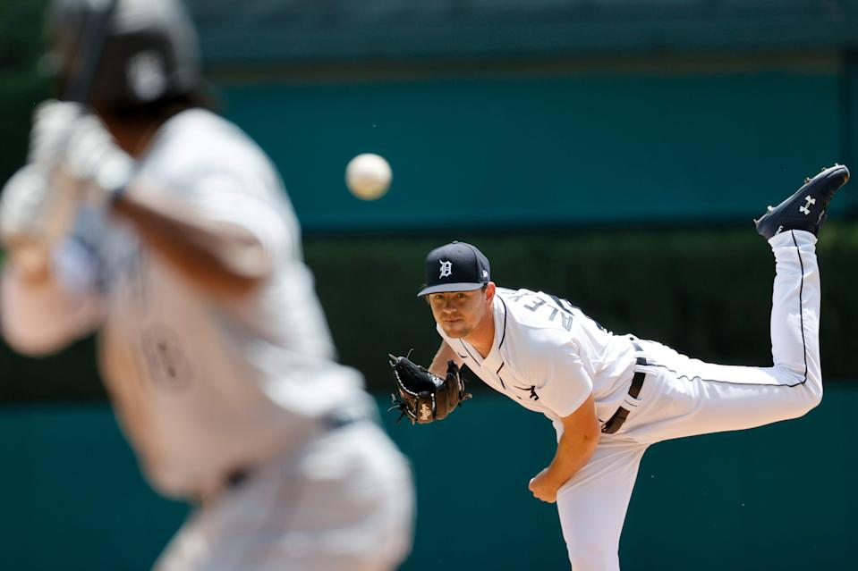 Detroit Tigers' Tyler Alexander pitches in the third inning against the Chicago White Sox at Comerica Park, June 13, 2021.