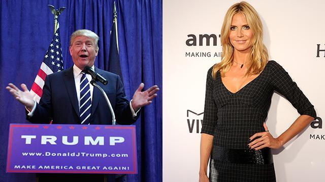"""Here we go again. Although Donald Trump got into plenty of hot water for his comments about Megyn Kelly earlier this month, apparently, that hasn't stopped the 69-year-old Republican presidential hopeful from being as candid as ever about sensitive topics. This time, the aim is 42-year-old supermodel Heidi Klum. <strong>WATCH: Jimmy Fallon Skewers Donald Trump's Megyn Kelly Comments With Spot-On Impression </strong> In an interview with <em>The New York Times</em>, Trump takes it upon himself to randomly rank the <em>America's Got Talent </em>judge's looks. """"Sometimes I do go a little bit far,"""" he prefaces the diss. """"Heidi Klum. Sadly, she's no longer a 10."""" We, however, beg to differ. Check out Klum looking amazing just last Tuesday at a taping of her hit NBC show in New York City. Getty Images And of course, let's not forget her spectacular bikini bod she showed off this summer with her 29-year-old boyfriend, Vito Schnabel. Klum responded on Monday via Twitter, with this hilarious video. """"#TrumpHasSpoken #sadly #9.99 #NoLongerA10 #IHadAGoodRun #donaldtrump #HeidiTrumpsTrump #BeautyIsInTheEyeOfTheBeheld,"""" she wrote. #TrumpHasSpoken #sadly #9.99 #NoLongerA10 #IHadAGoodRun #donaldtrump #HeidiTrumpsTrump #BeautyIsInTheEyeOfTheBeheld pic.twitter.com/dwDmEXNKMR— Heidi Klum (@heidiklum) August 17, 2015 Trump's plenty busy without another feud on his hands. The outspoken billionaire reported for jury duty on Monday morning at a Manhattan courthouse, showing up in a black limousine. Inside, another potential juror was able to snap this pic of him and post it on Snapchat. YES! There is a Snapchatter in jury duty with @realDonaldTrump this morning pic.twitter.com/ucENDV3LmU— Peter Hamby (@PeterHamby) August 17, 2015 <strong>NEWS: 7 of the Most Ridiculous Things Donald Trump Said During the GOP Debate</strong> Trump has, of course, been under fire for his comments on women before. During the Republican debate in Ohio, Kelly called him out for misogynistic remarks he's made in"""