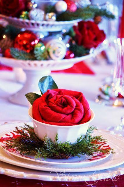 "<p>These pretty and practical napkin roses are simple to fold, and they add a touch of elegance and a pop of color to a traditional place setting. </p><p><strong> See more at <a href=""https://www.stonegableblog.com/great-dinner-party/"" rel=""nofollow noopener"" target=""_blank"" data-ylk=""slk:StoneGable"" class=""link rapid-noclick-resp"">StoneGable</a>.</strong></p>"