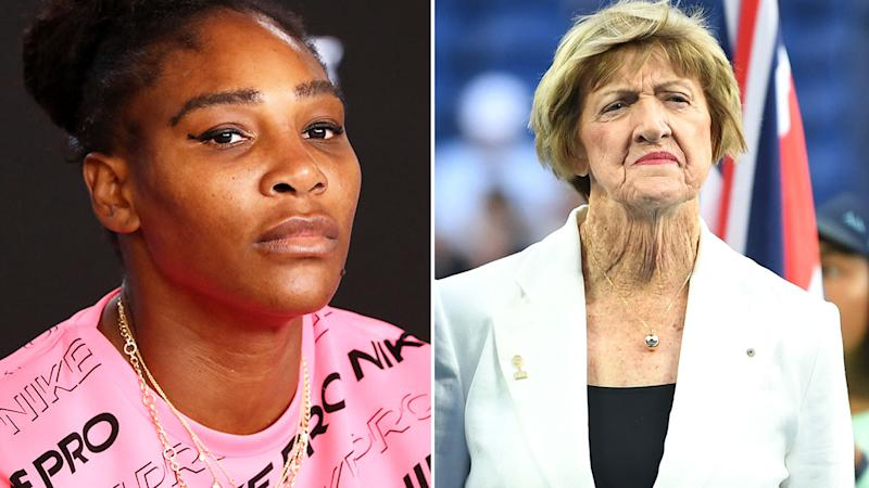Pictured here, tennis greats Serena Williams and Margaret Court.