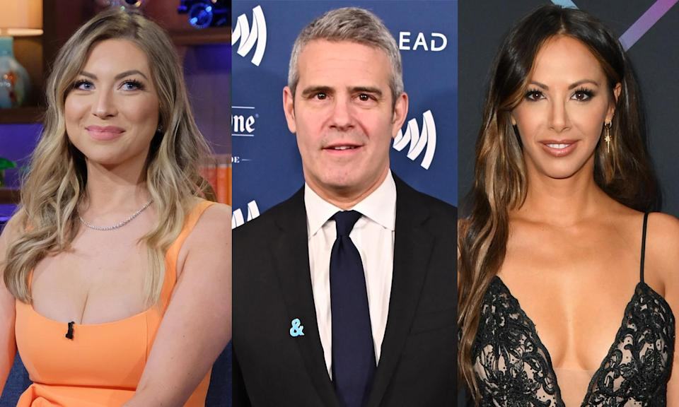Stassi Schroeder, Andy Cohen and Kristen Doute. (Photo: Getty Images)