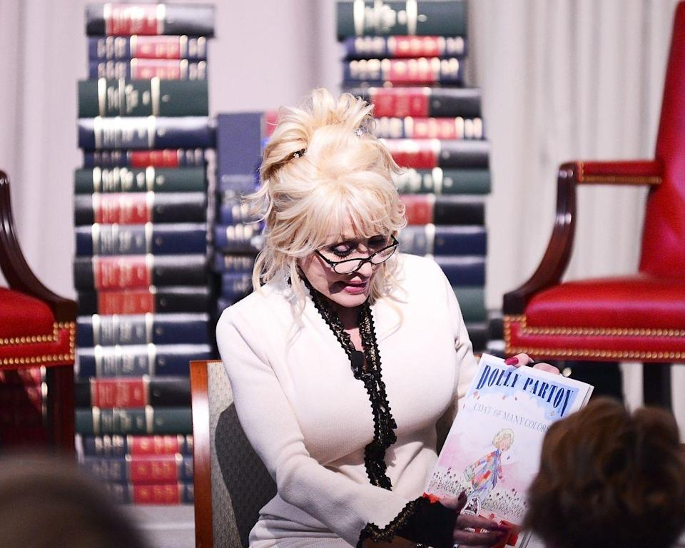 "<p>Not only is Dolly is a singer-songwriter, but she's actually a successful children's book author too. Dolly turned her beloved song ""Coat of Many Colors"" into <a href=""https://www.amazon.com/Coat-Many-Colors-Dolly-Parton/dp/0451532376"" rel=""nofollow noopener"" target=""_blank"" data-ylk=""slk:a children's book of the same name."" class=""link rapid-noclick-resp"">a children's book of the same name.</a></p>"