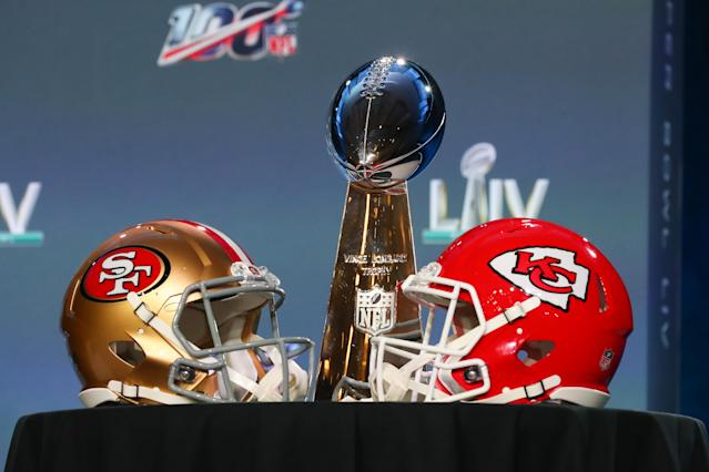 The Chiefs and 49ers will battle for the Lombardi Trophy on Sunday. (Photo by Rich Graessle/PPI/Icon Sportswire via Getty Images)