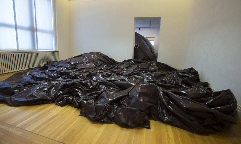 The art work 'The Death Of Leviathan' by Indian Artist Anish Kapoor is displayed at the exhibition 'Kapoor In Berlin' in the Martin-Gropius-Bau museum in Berlin, Friday, May 17, 2013. The exhibition will run from May 18, until Nov. 24, 2013. (AP Photo/Markus Schreiber)