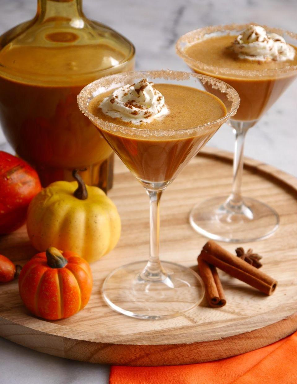 """<p>How do you make pumpkin spice better? Add homemade Irish cream for a cocktail that's totally worth the calorie splurge.<br></p><p><a class=""""link rapid-noclick-resp"""" href=""""https://www.blog.birdsparty.com/2018/09/homemade-pumpkin-spice-irish-cream.html"""" rel=""""nofollow noopener"""" target=""""_blank"""" data-ylk=""""slk:GET THE RECIPE"""">GET THE RECIPE</a></p>"""