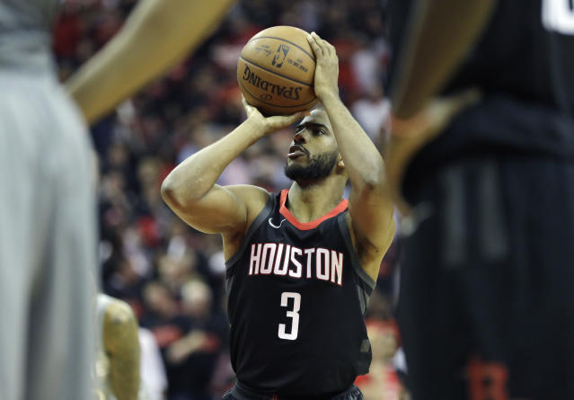 Chris Paul led the way for Houston with James Harden struggling. (AP Photo/David J. Phillip)