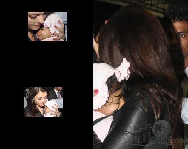 Finally, we get a glimpse of lil Aaradhya