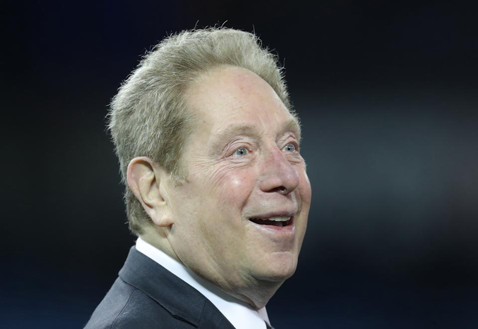 TORONTO, ON - MARCH 31: John Sterling the radio play-by-play announcer of the New York Yankees during batting practice before the start of MLB game action against the Toronto Blue Jays at Rogers Centre on March 31, 2018 in Toronto, Canada. (Photo by Tom Szczerbowski/Getty Images) *** Local Caption *** John Sterling