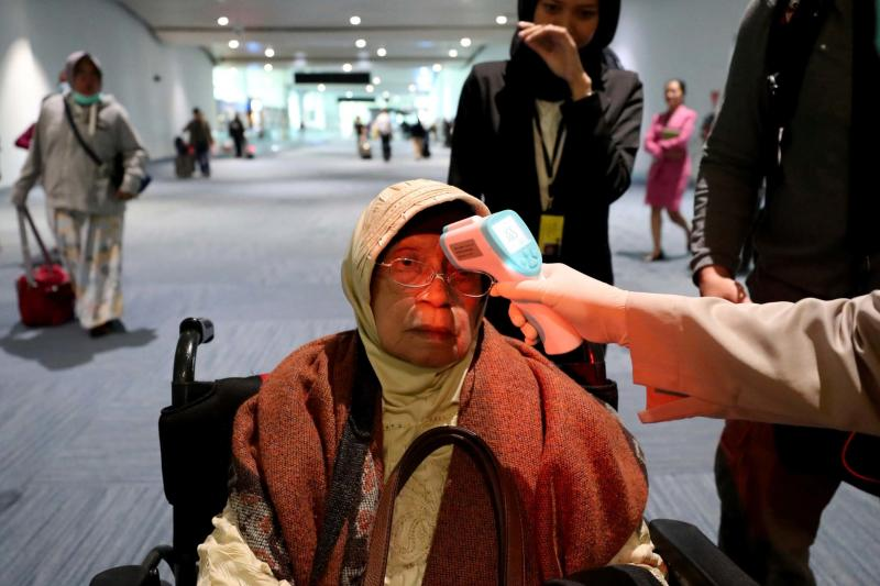 Airports around the world are checking travellers for symptoms of the SARS like virus (AP)