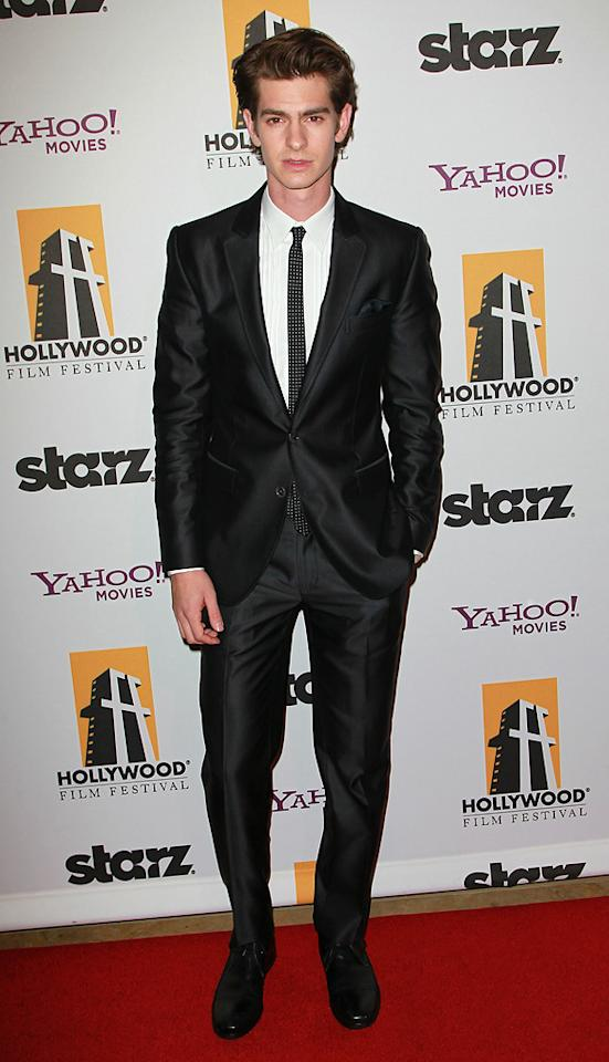 "<a href=""http://movies.yahoo.com/movie/contributor/1809693250"">Andrew Garfield</a> attends the 14th Annual Hollywood Awards Gala at the Beverly Hilton Hotel on October 25, 2010."