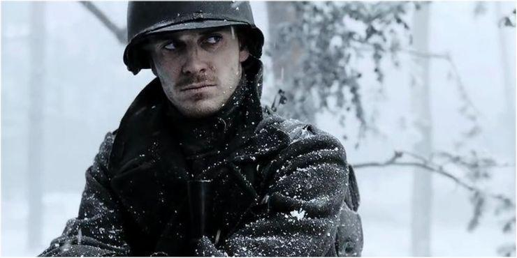 <p>Born in Germany and raised in Ireland, Fassbender was one of several actors to get their acting debut on Band of Brothers (he'd previously been working as a bartender and a postman). He starred in seven episodes as machine gunner Burton 'Pat' Christenson, and has since gone on to star in Tarantino's Inglourious Basterds (was QT a BoB fan perchance?) Steve McQueen's Hunger and next year, in Taika Waititi's Next Goal Wins.</p>