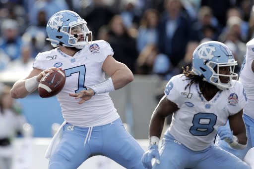 No. 18 Tar Heels eager to see Howell's next act at QB