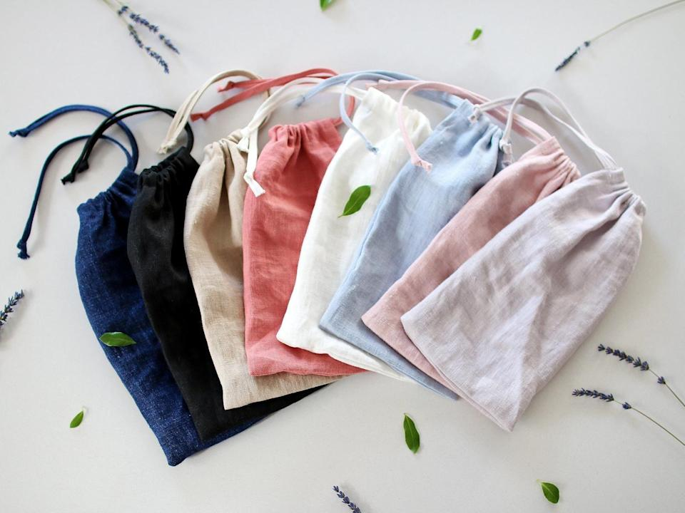 <p>This <span>Linen Pouch Set</span> ($9) will come handy when they're packing.</p>