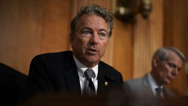 PHOTO:Sen. Rand Paul (R-KY) speaks during a hearing before Senate Foreign Relations Committee. July 25, 2018, on Capitol Hill. (Alex Wong/Getty Images)