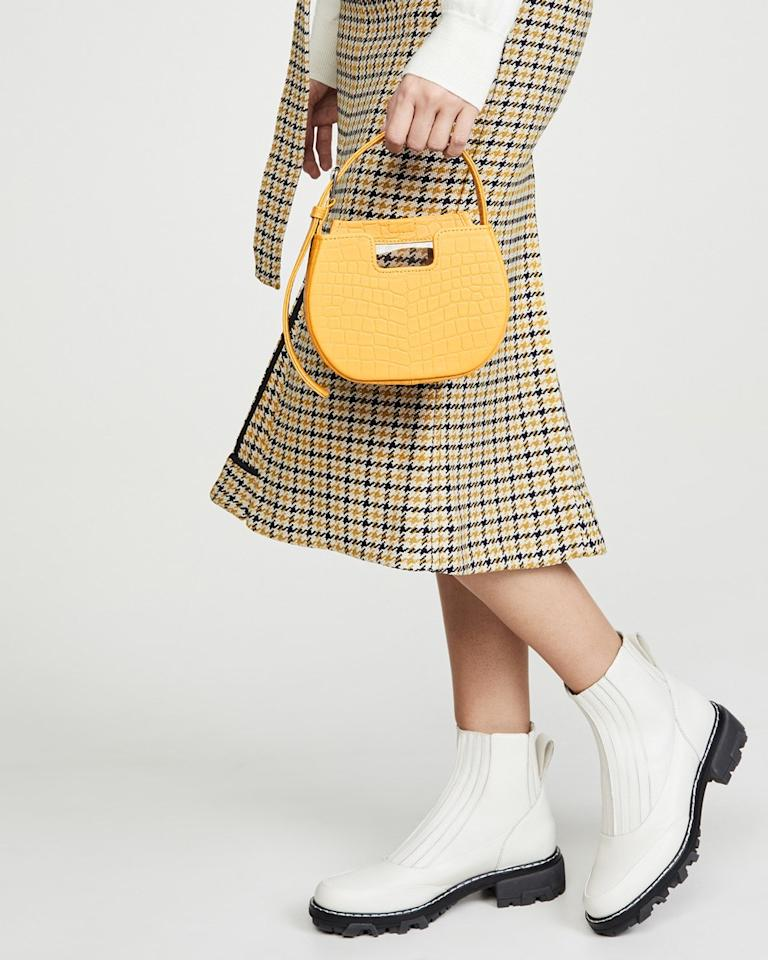 """Looking for a new statement piece? <a href=""""https://www.alfeyavalrina.com/"""">Alfeya Valrina's</a> bright and punchy bags will be right up your alley. All of the F.I.T. grad's pieces come in a range of bold textures (from corduroy to embossed croc) and are handmade in Indonesia from ethically sourced materials. <a href=""""https://www.alfeyavalrina.com/product-page/joe-joe-bag-red-mongolian"""" rel=""""nofollow"""">Tessa Thompson as a fan</a>. $275, Shopbop. <a href=""""https://www.shopbop.com/joe-bag-alfeya-valrina/vp/v=1/1562044558.htm?folderID=61558&fm=other-viewall&os=false&colorId=27422"""">Get it now!</a>"""