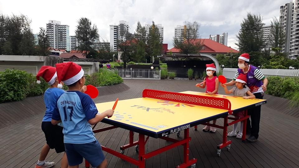 Participants at Christmas Celebration@ActiveSG. (PHOTO: Sport Singapore)