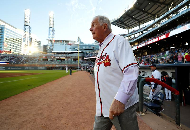 Legendary Braves manager Bobby Cox taken to hospital with possible stroke