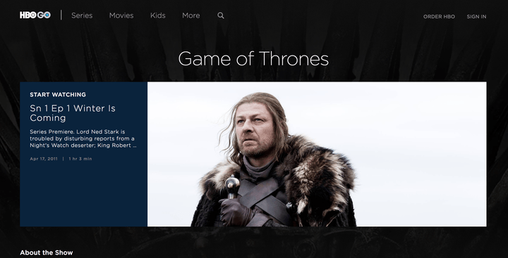 how to watch Game of Thrones online HBO Go