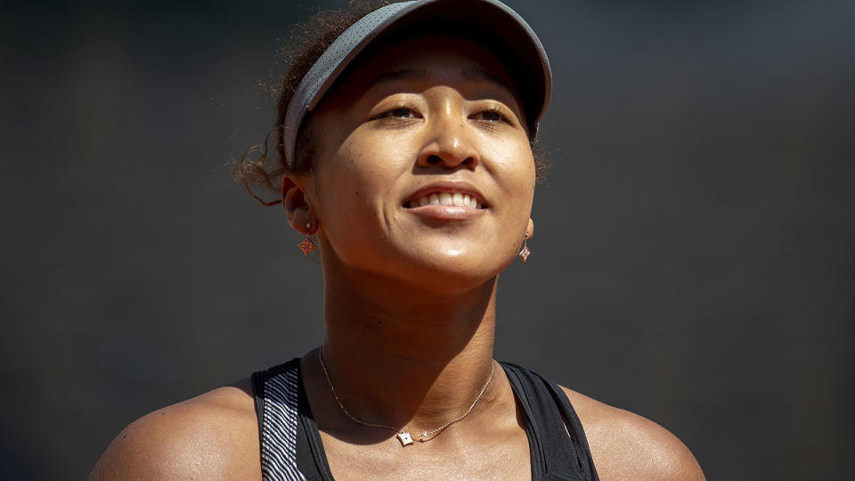 Naomi Osaka in action during the first round of the French Open. (Photo by Tim Clayton/Corbis via Getty Images)