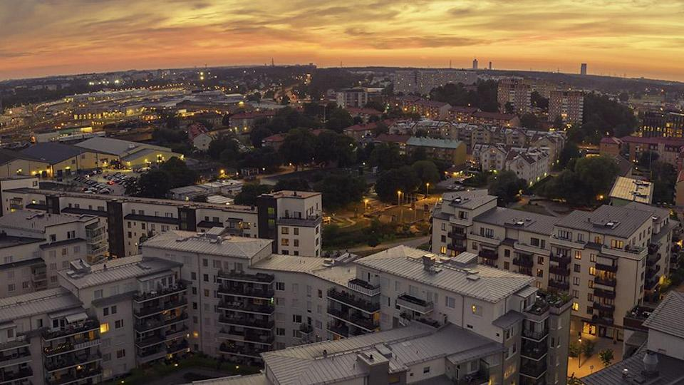 View of flats over Stockholm