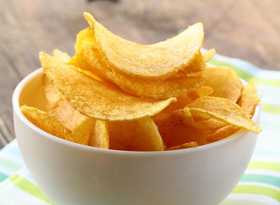 Bowl potato chips