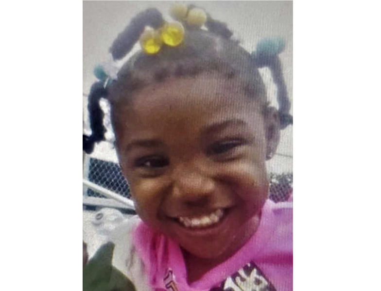 This undated photo released by the FBI shows 3-year-old Kamille McKinney, who police say has been missing since she was abducted while attending a birthday party on Saturday, Oct. 12, 2019, in Birmingham, Ala. (FBI via AP)