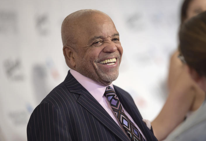 """FILE - In this June 15, 2017 file photo, Berry Gordy attends the the 48th Annual Songwriters Hall of Fame Induction and Awards Gala at the New York Marriott Marquis Hotel in New York. The Kennedy Center Honors is returning in December with a class that includes Motown Records creator Berry Gordy, """"Saturday Night Live"""" mastermind Lorne Michaels and actress-singer Bette Midler. Organizers expect to operate at full capacity, after last year's Honors ceremony was delayed for months and later conducted under intense COVID-19 restrictions. (Photo by Evan Agostini/Invision/AP, File)"""