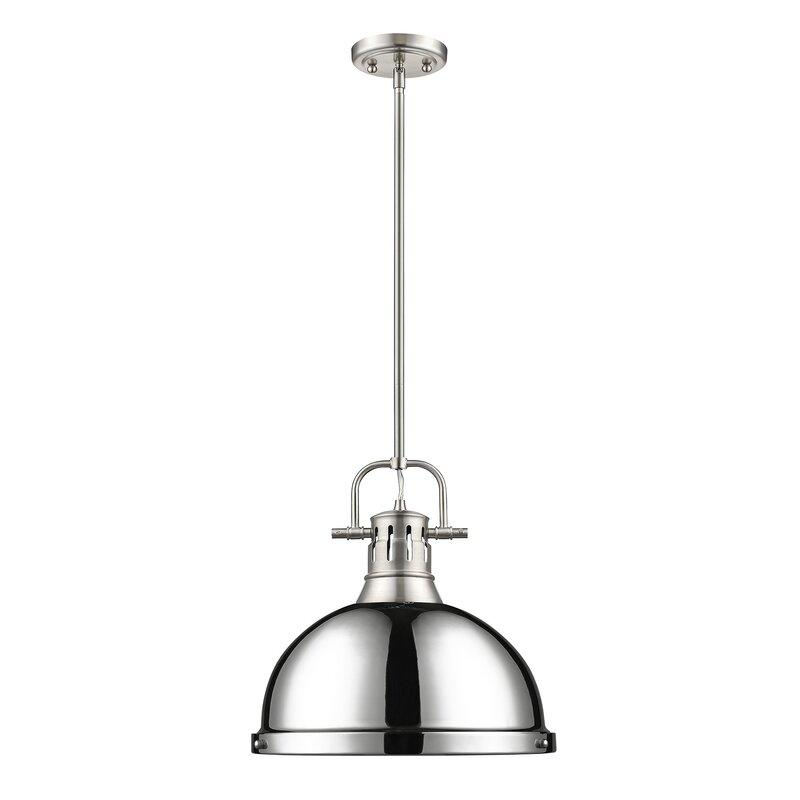 Light Single Dome Pendant in Chrome (Credit: Wayfair)