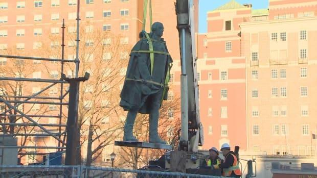 The statue of Edward Cornwallis was removed from the park in January 2018.