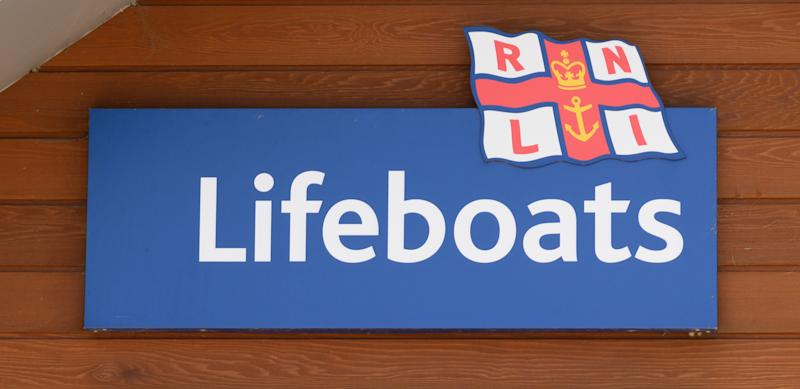 Sign for the Royal National Lifeboat Institute lifeboats