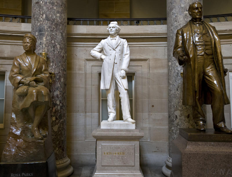 Capitol statues honor the famous, tragic and odd