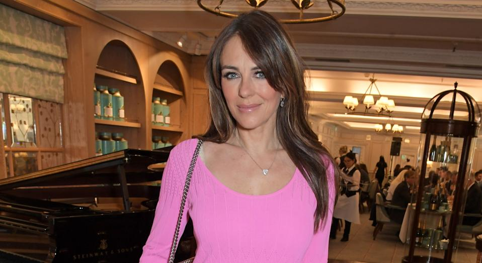 Liz Hurley is currently living in lockdown with seven family and friends - some of whom are vulnerable (Getty Images)