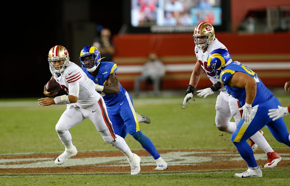 Sunday Night Football suffered another frustrating ratings evening with strong competition. (Photo by Michael Zagaris/San Francisco 49ers/Getty Images)