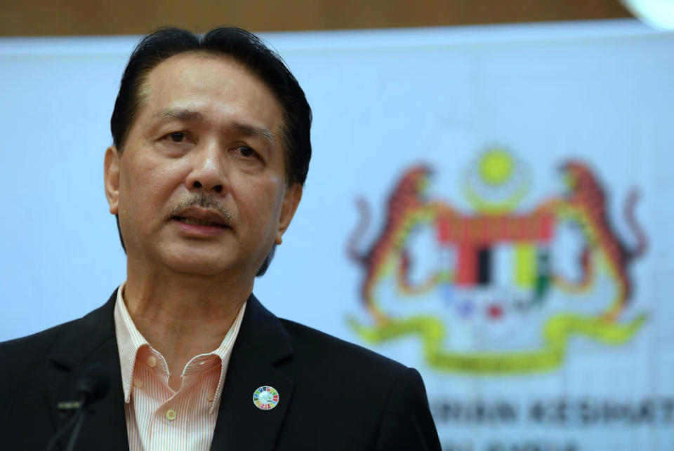 Health Director-General Datuk Dr Noor Hisham Abdullah said six imported cases involve two Malaysians and four foreigners who caught the infection abroad and tested positive upon arriving here. — Bernama pic