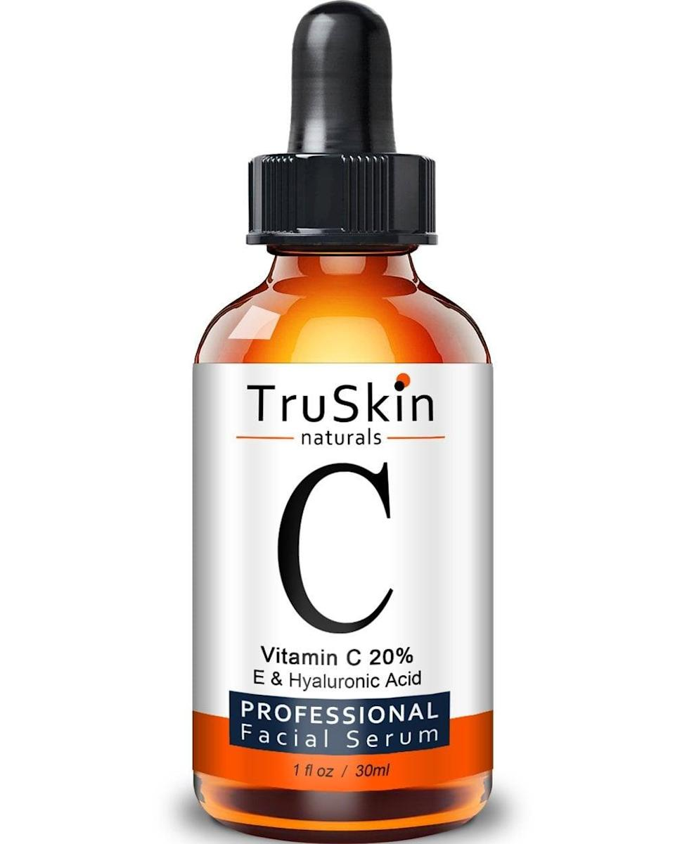 <p>This <span>TruSkin Naturals Vitamin C Serum</span> ($20) is the No. 1 bestseller for face serums on Amazon - and for good reason: countless users' before and after photos prove that the formula works wonders for everything from <span>fading acne</span> scars to <span>getting rid of eye bags</span>. It also claims to shrink pores and prevent future breakouts. </p>